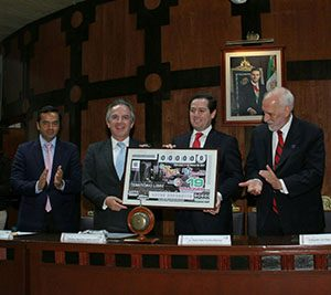 Billete conmemorativo de LOTENAL Tratado de Tlatelolco