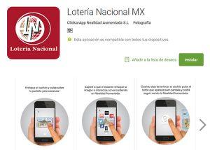 Aplicacion Lotería Mexico en Play Store