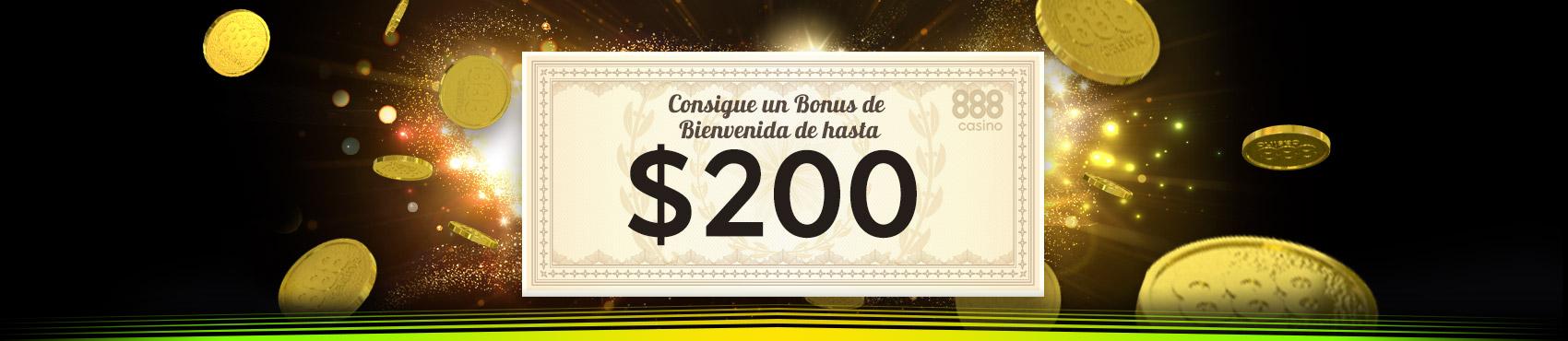 Bono bienvenida 888 casino $200