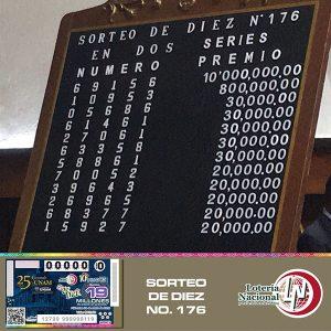 Lotería Nacional para la Asistencia Pública quiso conmemorar con su Sorteo de Diez No. 176 el 25 Aniversario de la Fundación UNAM