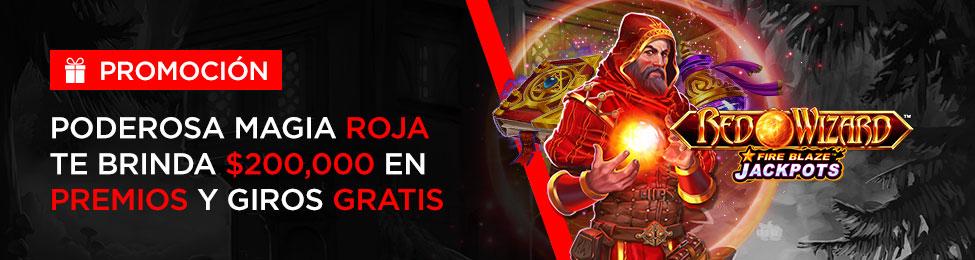 $200,000 MXN en premios con Caliente México y la slot Red Wizard