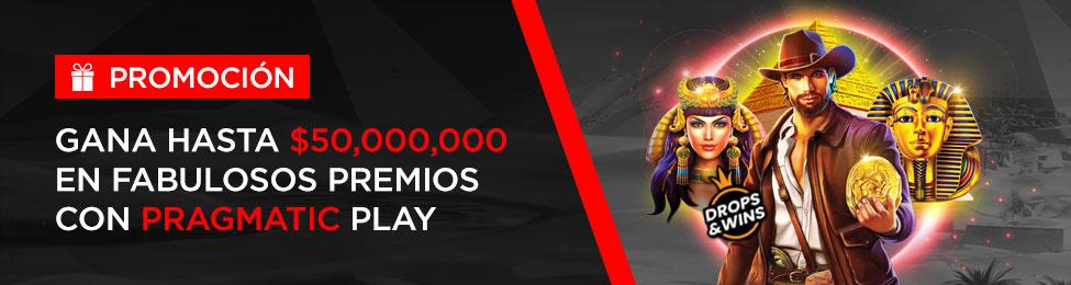 $50,000,000 con Caliente y Pragmatic Play
