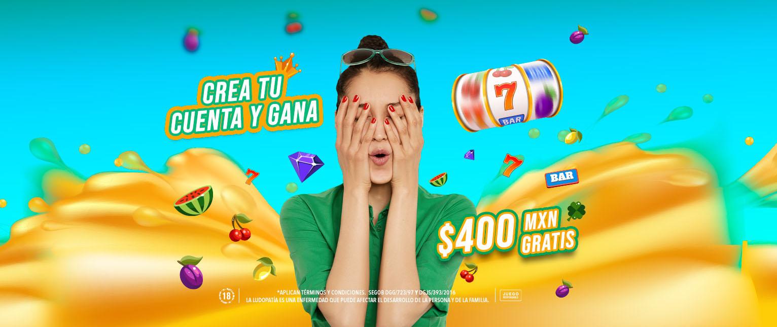 primeras tiradas a las slots gratis Bono Registro $400 MX