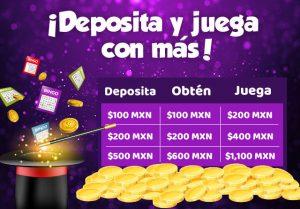 Bono bienvenida bingo casino Caliente