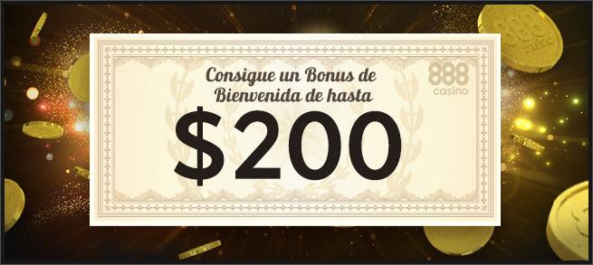 Bonus bienvenida 888 casino
