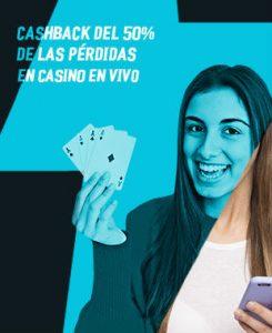 Cashback 50% Strendus casino en vivo