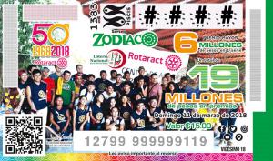 LOTENAL dedicó su Sorteo Zodiaco No. 1383 al 50 Aniversario Rotaract