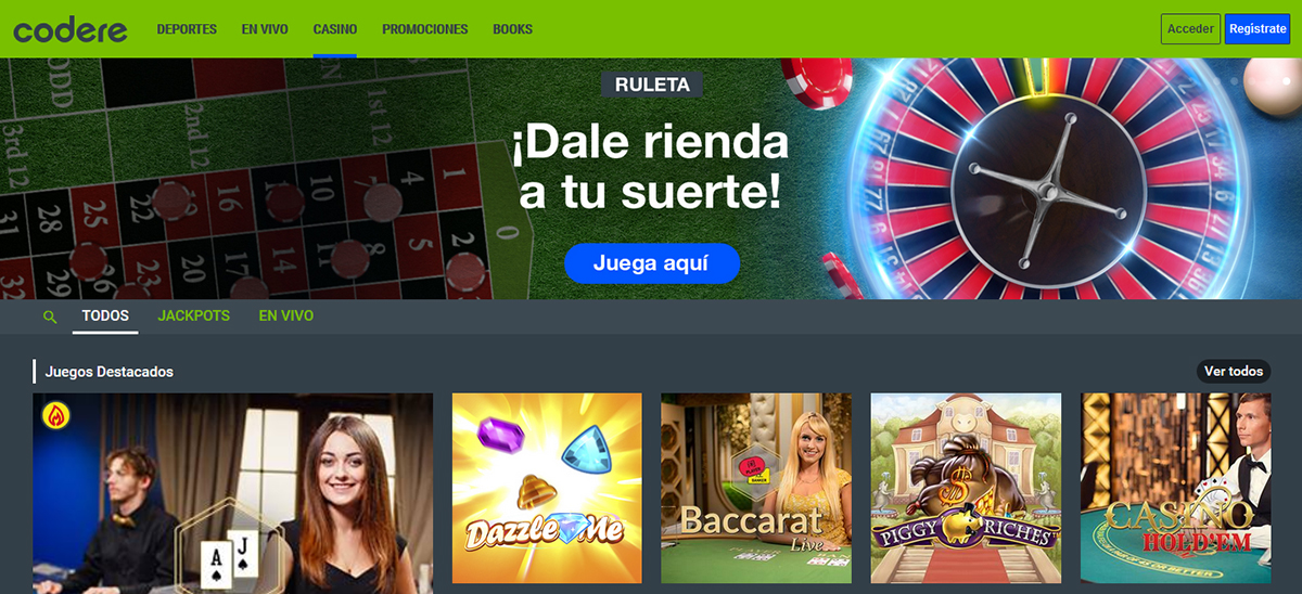 Página Principal Casino Codere