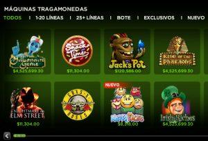 888 casino México tragamonedas sección