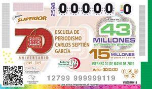 Sorteo Superior 2598 Loteria Nacional Asistencia Pública