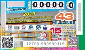 Sorteo Superior 2600 Lotería México