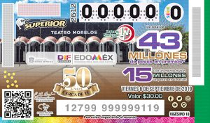 Sorteo Superior 2612 Lotería Nacional