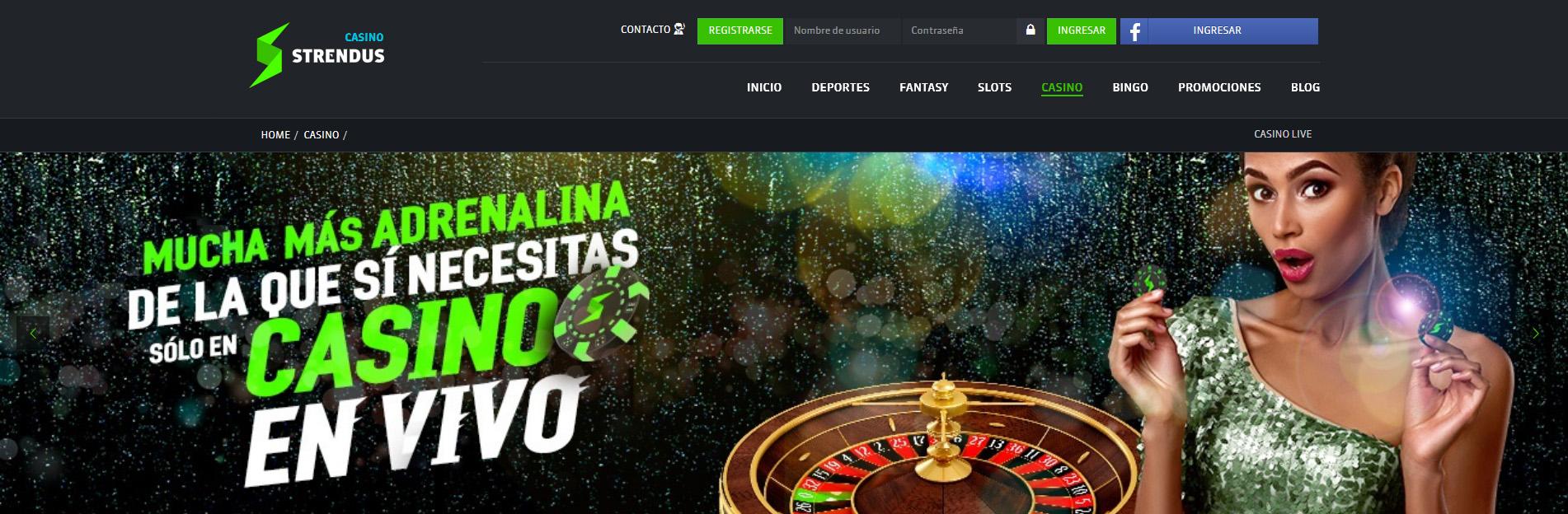 Strendus casino en linea página principal